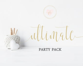 Ultimate Party Package, Printable Party Package, Printable Party, Birthday Party Pack, Baby Shower Party Pack, Party Printables, Party Pack