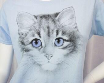 Blue Kitty youth tshirt