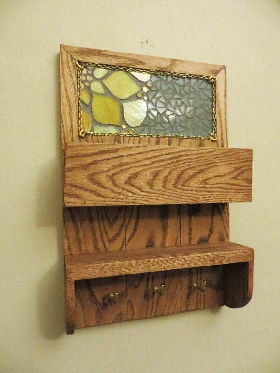 Wall Decor Mailbox : Items similar to mail and key holder entryway organizer