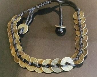 adjustable Asian inspired charm bracelet