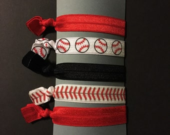 Baseball hair ties