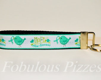 Celiac Disease Wristlet Gluten Free Hope for Celiac Disease Awareness Key Fob Celiac Awareness Auto Immune Disorder Awareness