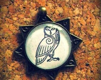 Cameo animals totem Owl