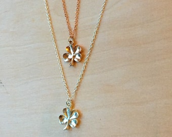 Four Leaf Clover Necklace Good Luck Charm Necklace