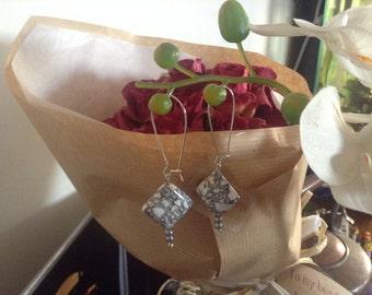 T-shirt Marble Bead Earrings