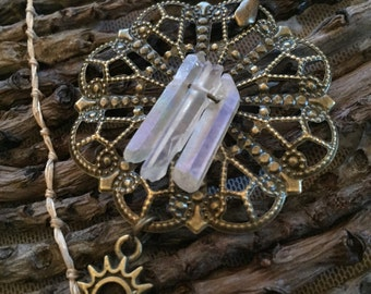 Titanquartz / Sun necklace