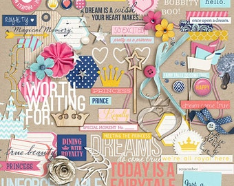 Project Mouse: Princess (Elements) - Perfect for Project Life & Digital Scrapbooking Cinderella, Ariel