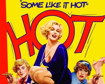 Some Like It Hot Movie Poster 1959 Marilyn Monroe Hollywood