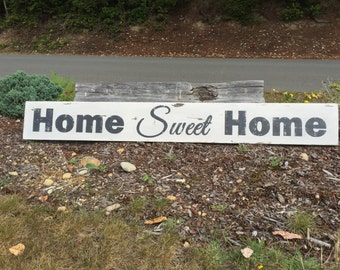 Home Sweet Home Wood Sign - Large Home Sweet Home Sign - Home Sweet Home Sign - Farmhouse Home Decor - Farmhouse Home Sweet Home