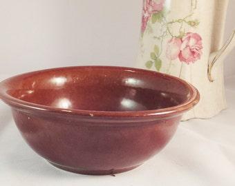 Retro stoneware crockery bowl - Brown glaze - Pearsons of Chesterfield, England