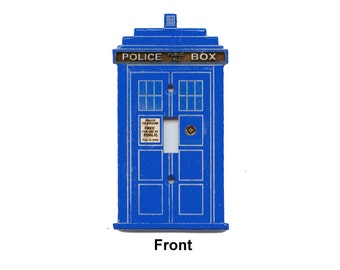 Doctor Who inspired TARDIS switchplate
