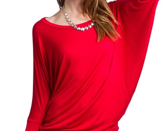 T2119 Long Sleeve Dolman Top