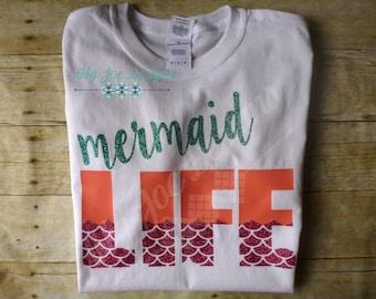 Mermaid Life Shirt, Mermaid Life, Youth Girls Shirt, The Mermaid Life Shirt, Kids Shirt, Youth Mermaid Life, Girls Shirt, Youth Girls,