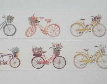 Design Washi tape bicycles floral summer color
