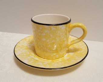 Stangl Yellow Town & Country Cup and Saucer #5287