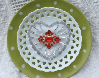 "Valentine Glass Plate Flowers ""Be Mine"""
