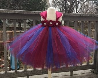 Pageant tutu. Flower girl tutu, fall wedding tutu, princess tutu.