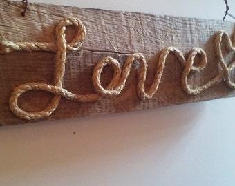 Old Barn wood LOVE sign