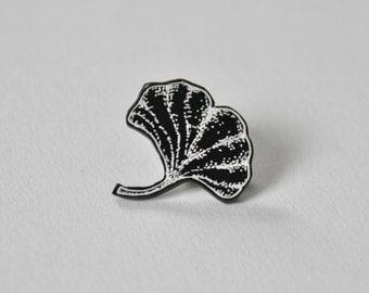 ginkgo leaf // shrink plastic pin