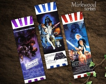 Star Wars Bookmarks  |  Classic Movie Poster Set of 3 Bookmarks |  Great Gifts or Stocking Stuffers