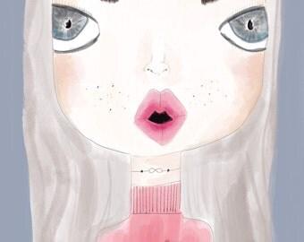 Rosie - girls art print, modern nursery, kidsprint