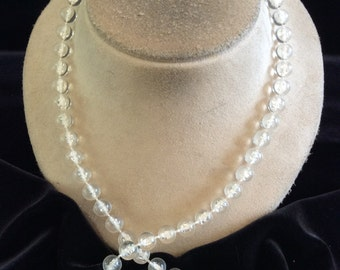 Vintage Clear Beaded Necklace