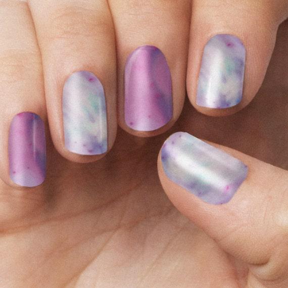 Hot Pink Galaxy Nail Products: Pink Galaxy Nail Polish Wraps By ItsPersonail On Etsy