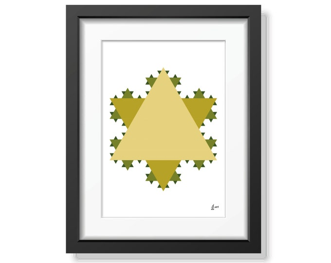 Koch star 07 [mathematical abstract art print, unframed] A4/A3 sizes
