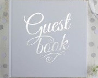 Sparkly Silver Guest Book