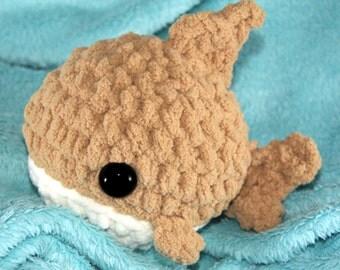 IN STOCK Sand Round Shark Amigurumi 5-Inch Plush