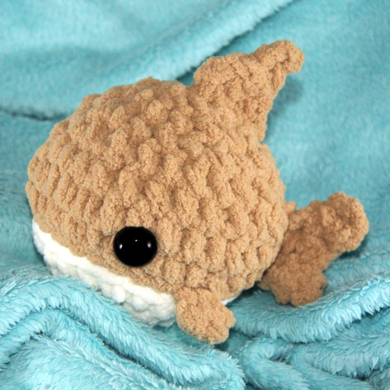 Hammerhead Shark Amigurumi : IN STOCK Sand Round Shark Amigurumi 5-Inch Plush