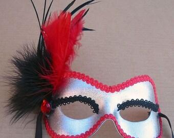 Silver Coral Masquerade Mask U505