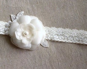 Camellia baby lace head band