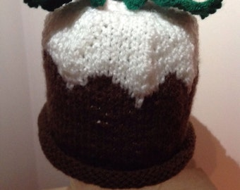 Pudding Christmas hat 0-3 months/Christmas photo prop/my first Christmas gift