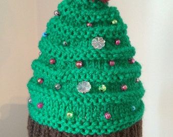 Christmas tree hat for newborn/ideal photo prop/excellent gift