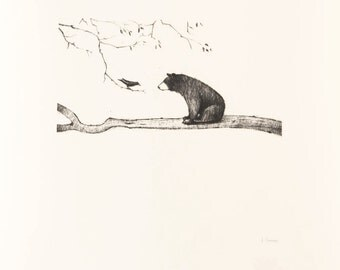 Bear on Branch Print