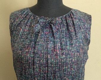 1960's Silk Shift Dress Confetti Print Frances Brewster dress s/m mod dress