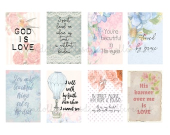 faith planner stickers - happy planner stickers - bible journaling - bible planner stickers - inspirational stickers - scripture - SET J