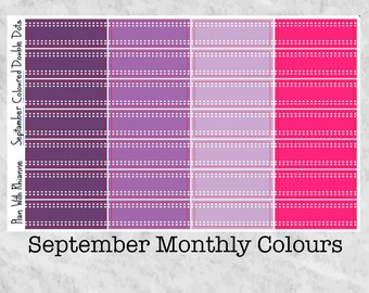 NEW September Monthly Coloured Double Dots for the Erin Condren Life Planner