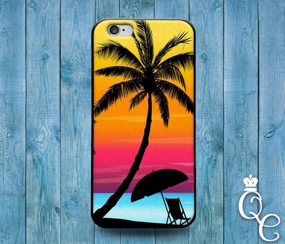 iPhone 4 4s 5 5s 5c SE 6 6s 7 Plus + iPod Touch 4th 5th 6th Gen Cool Pink Orange Purple Sunset Beach Relax Life Phone Cover Cute Custom Case