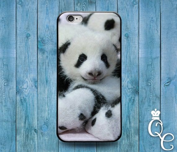 iPhone 4 4s 5 5s 5c SE 6 6s 7 plus iPod Touch 4th 5th 6th Gen Cute Black White Asian Bear Baby Pandas Panda Phone Cover Funny Animal Case