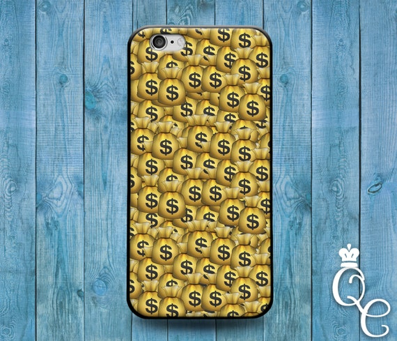 iPhone 4 4s 5 5s 5c SE 6 6s 7 plus iPod Touch 4th 5th 6th Generation Cute Cool Emoji Phone Cover Funny Gold Money Bags Cash Swag Swerve Case