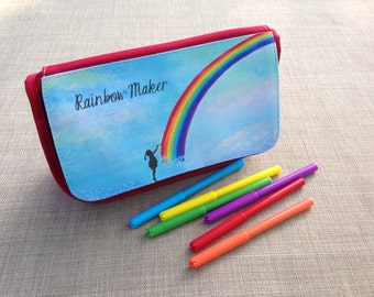 Rainbow Maker Pencil Case/ Makeup Bag