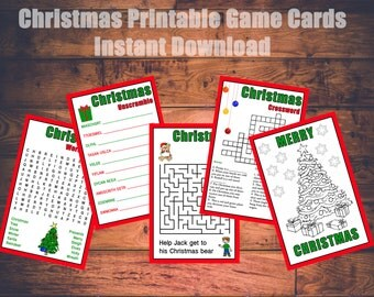 Christmas Kids Printable Games Instant Download