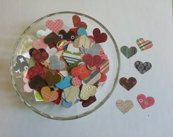 Heart punches, Heart die cuts, Embellishments, Valentine confetti, Heart cut outs, Paper shapes, Die cut shapes, Heart confetti, Set of 200
