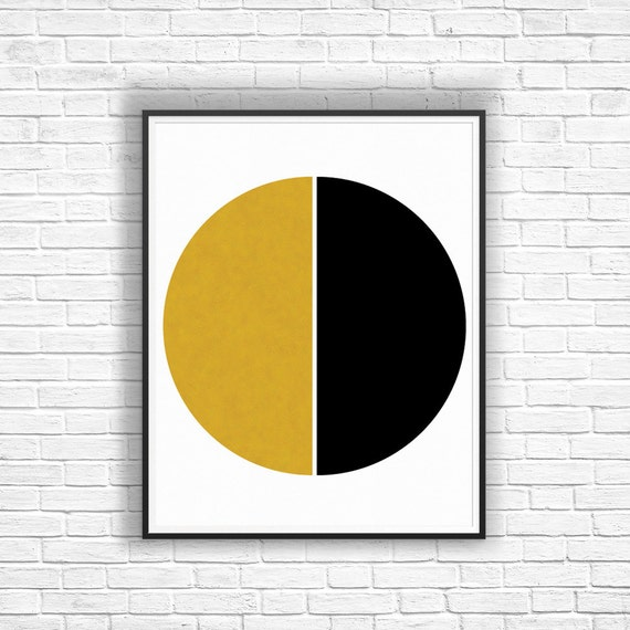 Black Gold Wall Decor Modern Abstract Geometric Art by ...