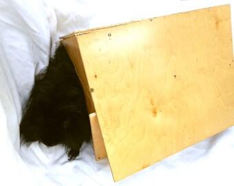 Reclaimed Wood Pet Hut House Guinea Pig Hideout Hardwood Handmade Cavy Hidey Hut A Frame SKU H35Af
