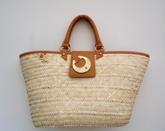 Koffa tan straw bag (medium)