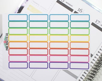 Quarter Boxes in multicolored for Erin Condren Life Planner! 028