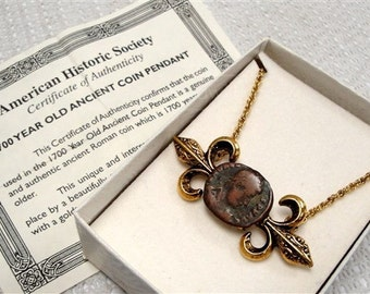 1700 year old ancient coin pendant